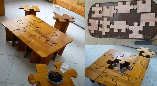 Best ideas about DIY Puzzle Table . Save or Pin DIY Puzzle Table Now.