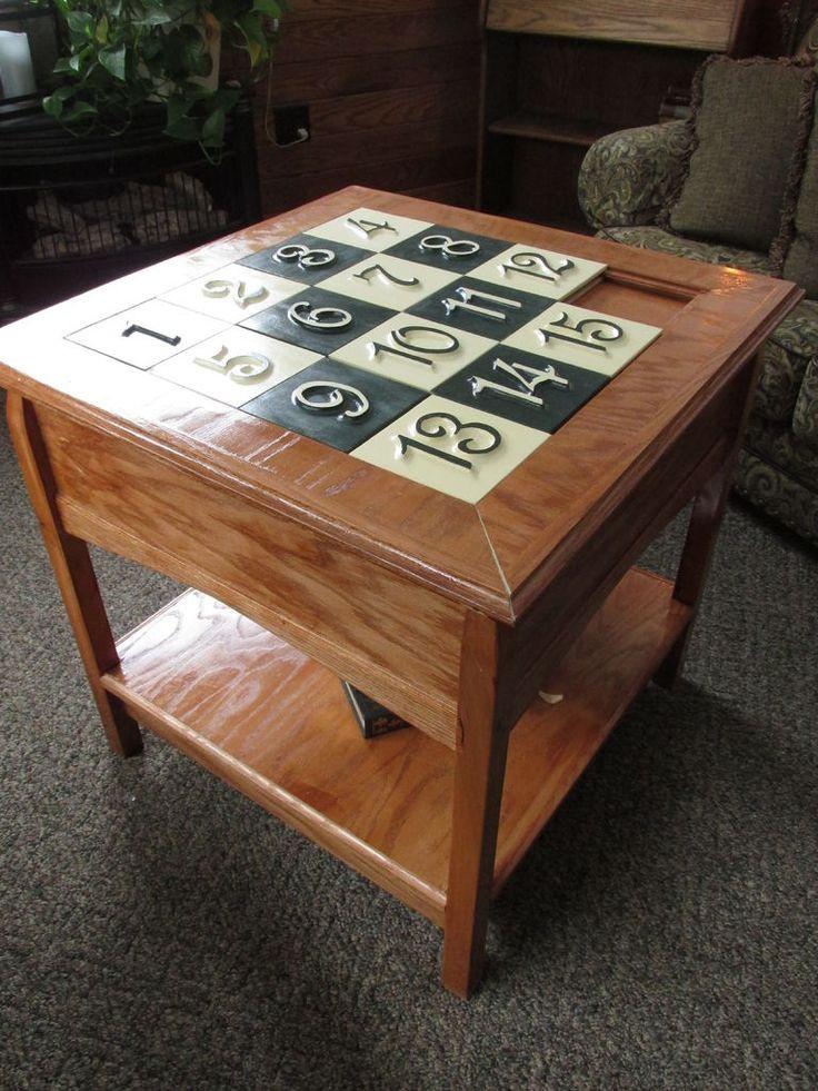 Best ideas about DIY Puzzle Table . Save or Pin Sliding Puzzle Secret partment Table Now.