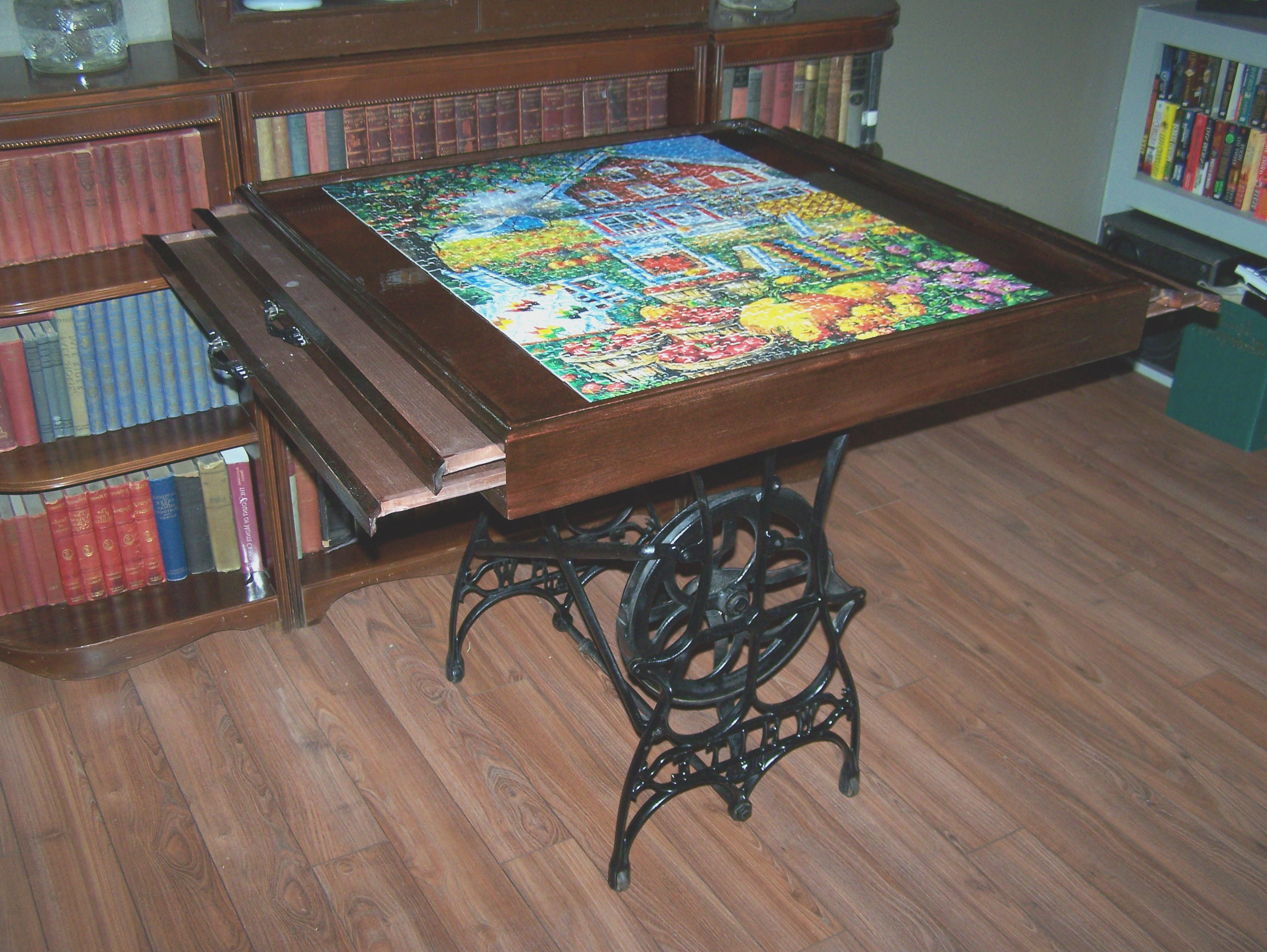 Best ideas about DIY Puzzle Table . Save or Pin DIY Puzzle Coffee Table Stool How To Simply Make It Now.