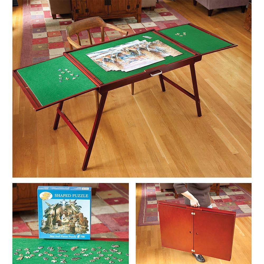 Best ideas about DIY Puzzle Table . Save or Pin Fold and Go Wooden Jigsaw Puzzle Hobby Table Now.