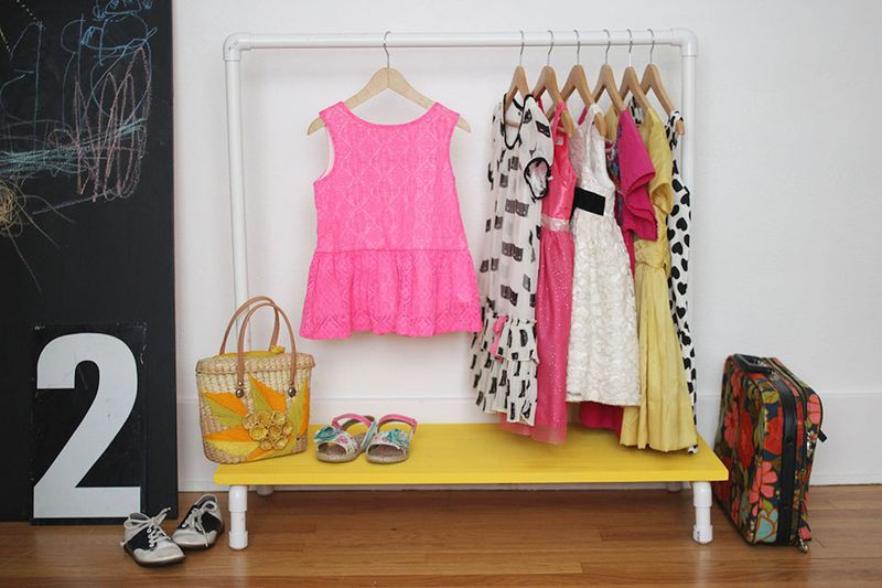 Best ideas about DIY Pvc Clothes Rack . Save or Pin Kids Clothes Rack DIY – A Beautiful Mess Now.