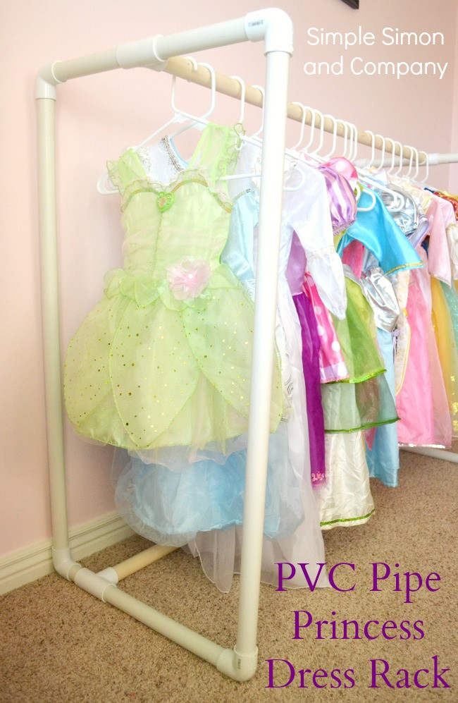 Best ideas about DIY Pvc Clothes Rack . Save or Pin DIY PVC Pipe Princess Dress Rack A How To Simple Simon Now.