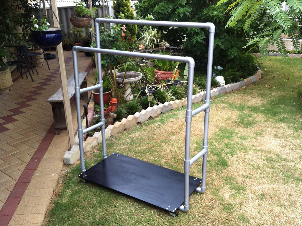 Best ideas about DIY Pvc Clothes Rack . Save or Pin PVC Pipe Clothes Rack Now.