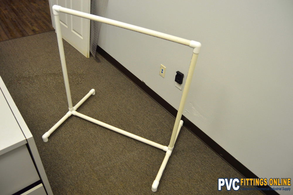 Best ideas about DIY Pvc Clothes Rack . Save or Pin DIY PVC Clothes Rack Easy DIY with PVC Pipe and Fittings Now.
