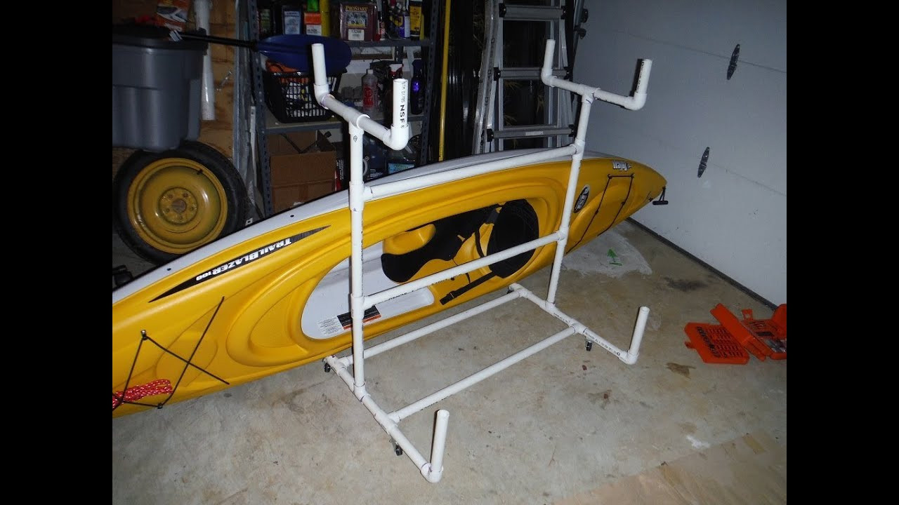 Best ideas about DIY Pvc Kayak Rack . Save or Pin Access How to make a kayak rack out of pvc Now.