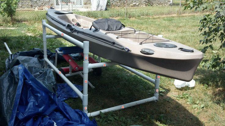 Best ideas about DIY Pvc Kayak Rack . Save or Pin DIY PVC Kayak Rack DIY Now.