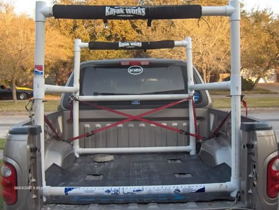 Best ideas about DIY Pvc Kayak Rack . Save or Pin Homemade PVC kayak rack for pickup bed Now.