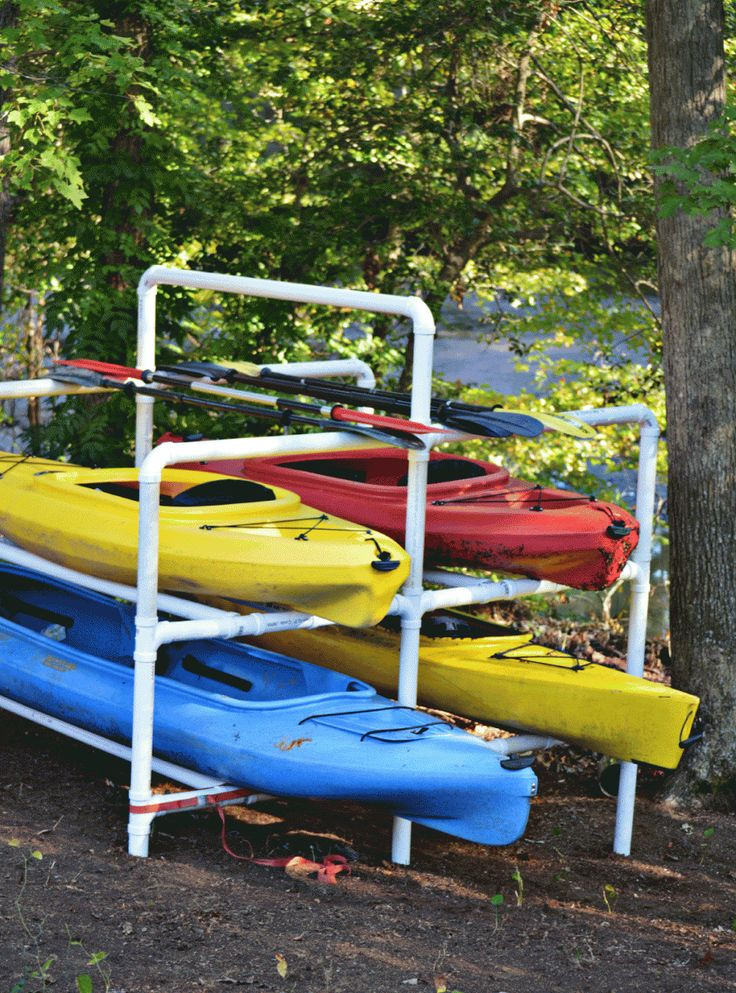 Best ideas about DIY Pvc Kayak Rack . Save or Pin Multi kayak storage rack out of PVC piping from the Now.