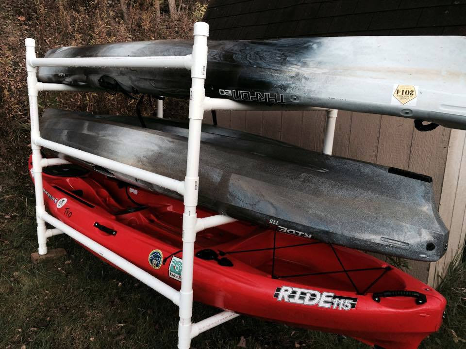 Best ideas about DIY Pvc Kayak Rack . Save or Pin Build a simple kayak rack from PVC Kayak Fishing Instructor Now.