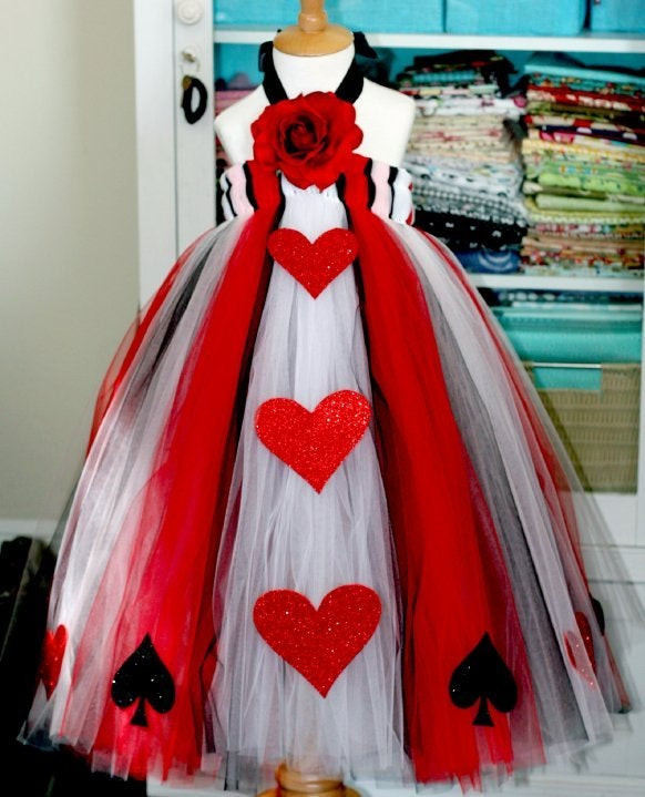 Best ideas about DIY Queen Of Hearts Costume Tutu . Save or Pin PoppyTogs — Queen of Hearts Tutu Dress Now.