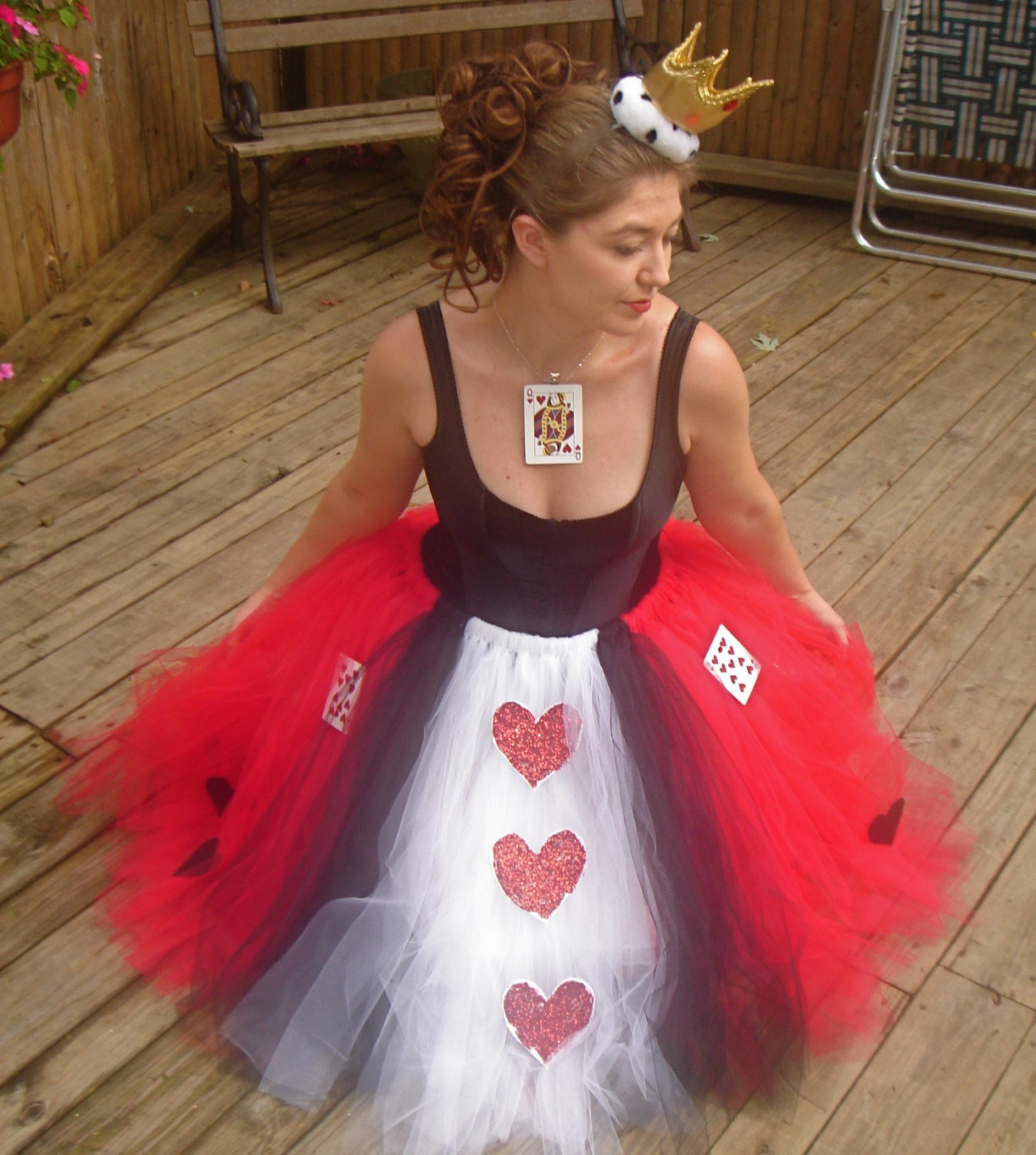Best ideas about DIY Queen Of Hearts Costume Tutu . Save or Pin Queen of Hearts Adult Boutique Tutu Skirt Costume Now.