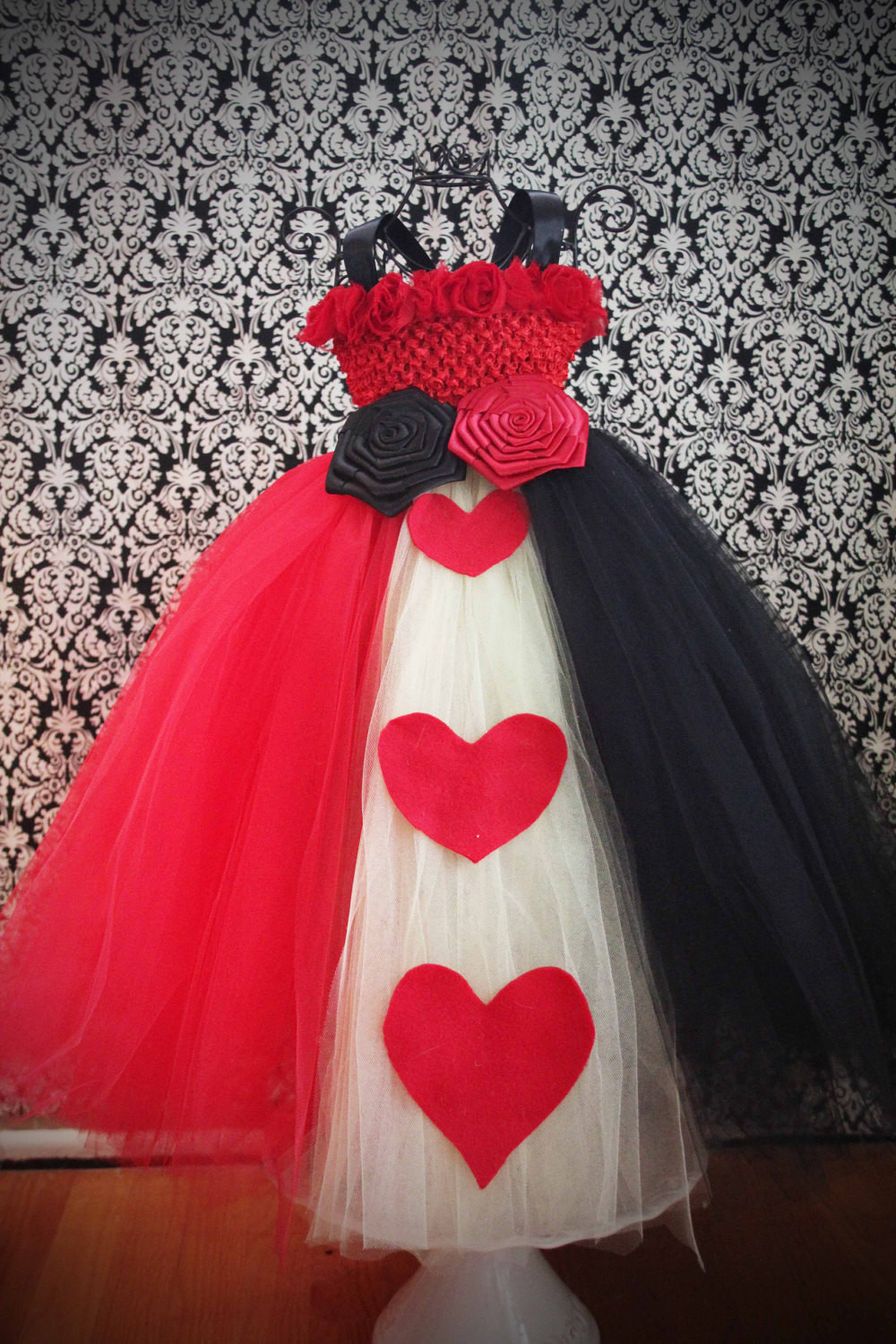 Best ideas about DIY Queen Of Hearts Costume Tutu . Save or Pin RESERVED for heppyong Queen of Hearts Tutu Dress Costume Now.