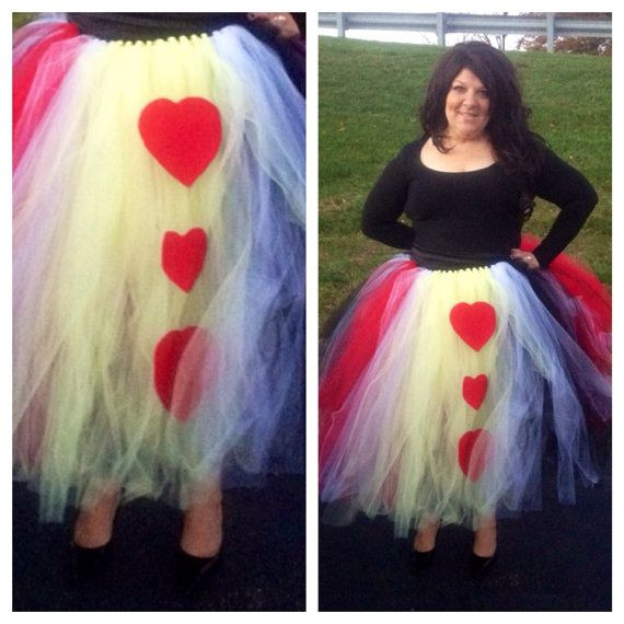 Best ideas about DIY Queen Of Hearts Costume Tutu . Save or Pin Adult Queen of Hearts Tutu Halloween Costume Women s size Now.