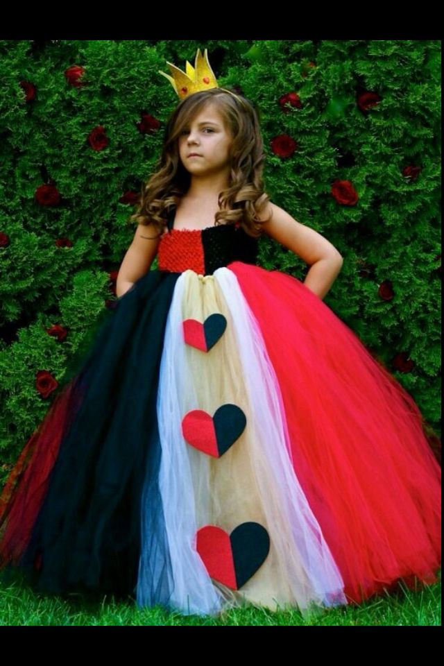 Best ideas about DIY Queen Of Hearts Costume Tutu . Save or Pin Queen of Hearts Red Queen girls costume Now.