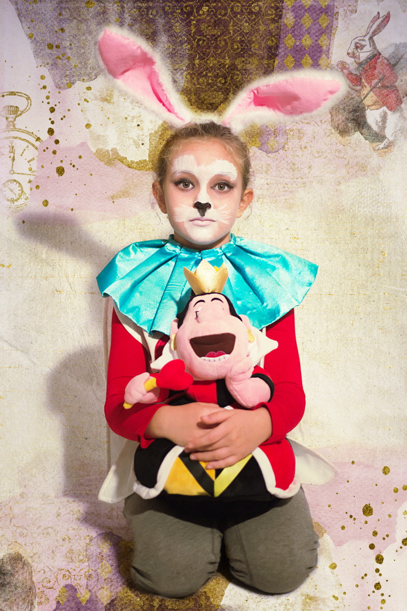 Best ideas about DIY Rabbit Costume . Save or Pin DIY Halloween kids costumes alice and white rabbit Now.