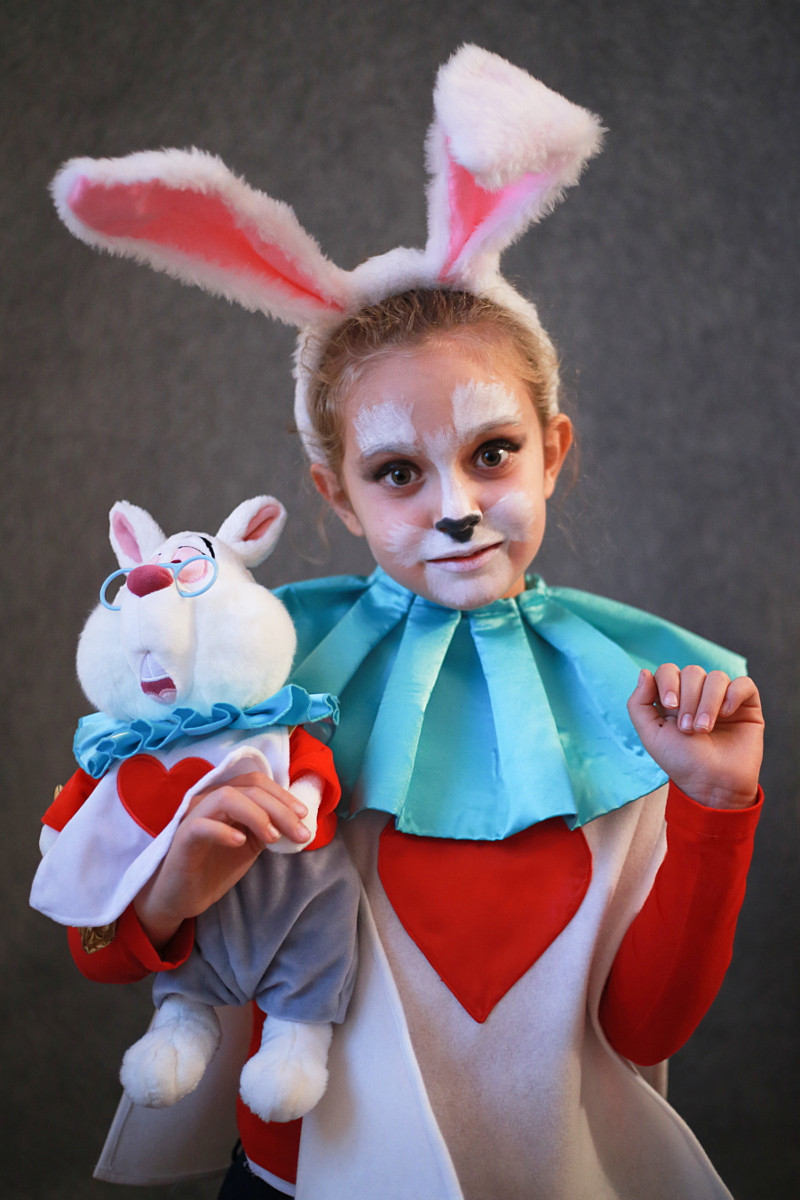 Best ideas about DIY Rabbit Costume . Save or Pin DIY Halloween kids costumes white rabbit Fannice Kids Now.