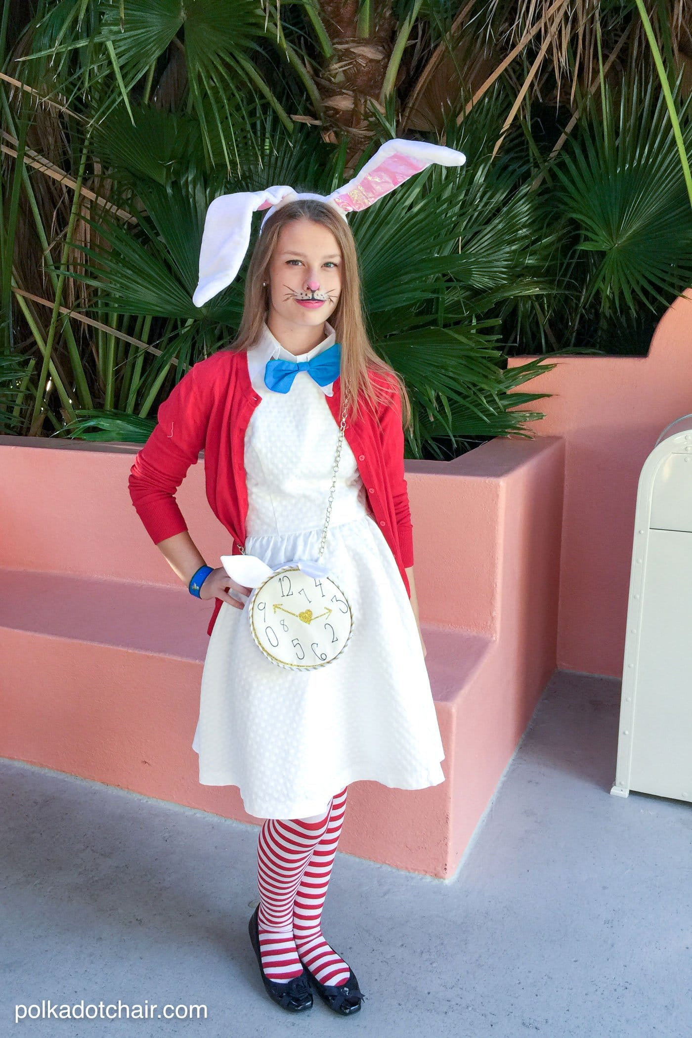 Best ideas about DIY Rabbit Costume . Save or Pin No Sew Alice in Wonderland Costume Ideas The Polka Dot Chair Now.