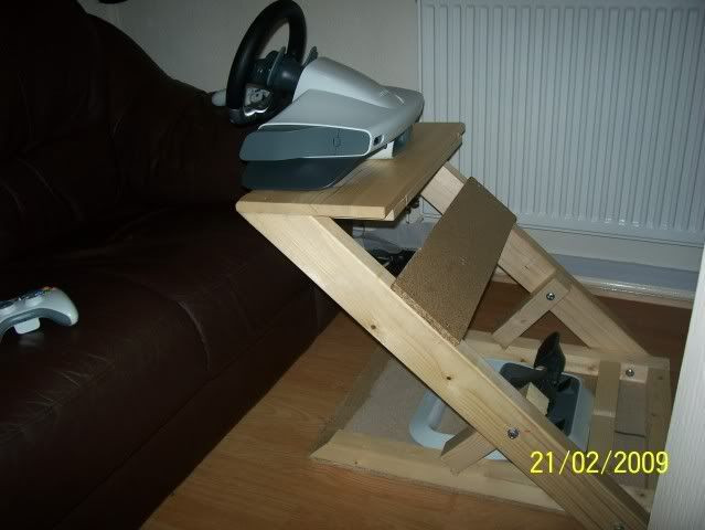 Best ideas about DIY Racing Wheel Stand Plans . Save or Pin Xbox 360 Steering Wheel Stand Now.