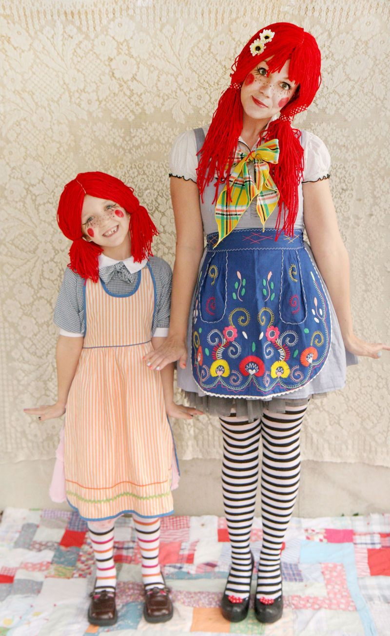 Best ideas about DIY Raggedy Ann Costume . Save or Pin Rag Doll Halloween Costume D I Y – A Beautiful Mess Now.