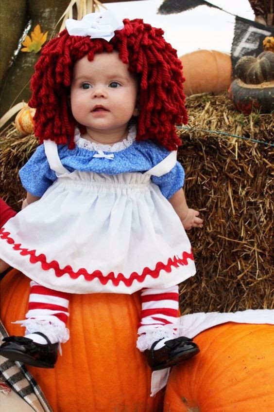 Best ideas about DIY Raggedy Ann Costume . Save or Pin Raggedy Ann baby costume Best Halloween costumes for kids Now.