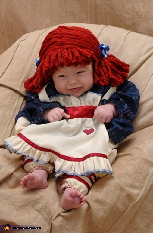Best ideas about DIY Raggedy Ann Costume . Save or Pin Cute Raggedy Ann Baby Costume Now.
