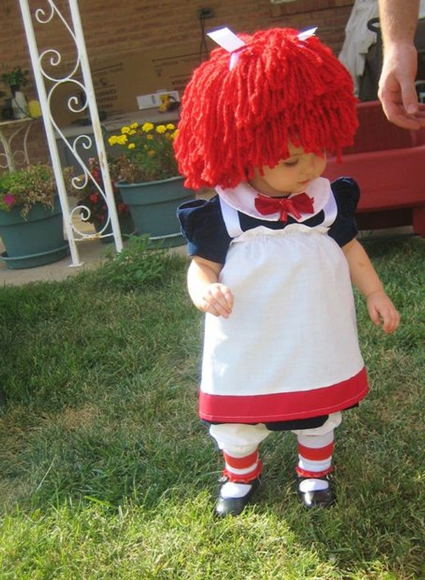 Best ideas about DIY Raggedy Ann Costume . Save or Pin Baby Raggedy Ann Costume All Now.