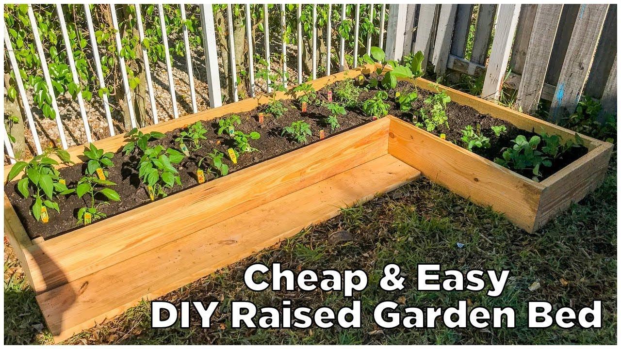 Best ideas about DIY Raised Garden Beds Cheap . Save or Pin Super Easy & Cheap DIY Raised Garden Bed Now.