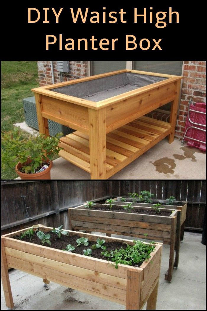 Best ideas about DIY Raised Planter Boxes . Save or Pin DIY Waist High Planter Box Tips for the garden Now.