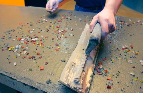 Best ideas about DIY Recycled Glass Countertops . Save or Pin Beauty of Concrete Top Stories Ohio Now.