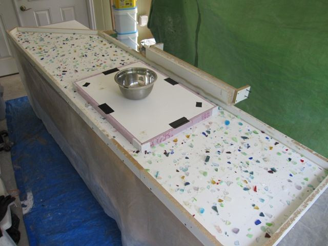 Best ideas about DIY Recycled Glass Countertops . Save or Pin Detailed TUTORIAL on recycled glass countertop Now.