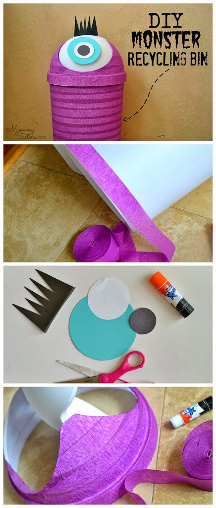 Best ideas about DIY Recycling Bins . Save or Pin DIY Monster Recycling Containers Fun Recycling Bins for Now.