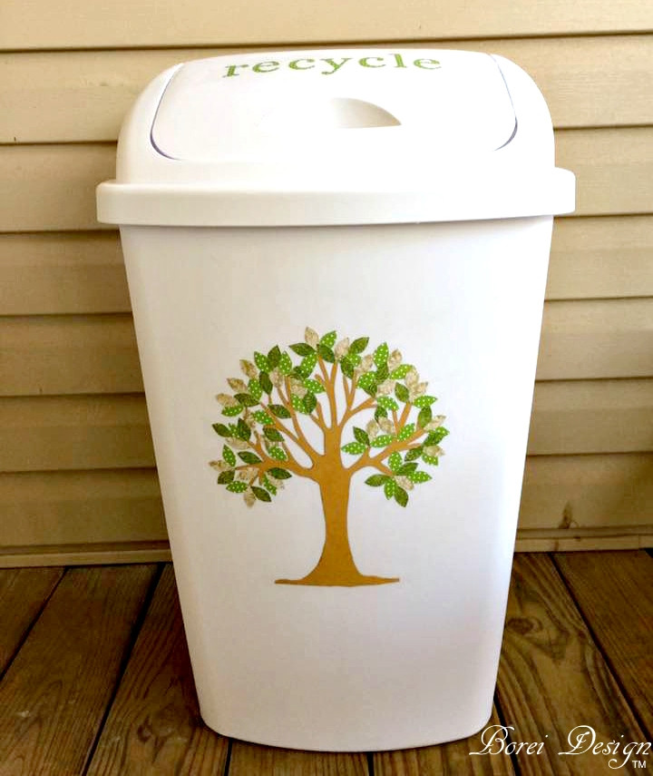 Best ideas about DIY Recycling Bins . Save or Pin DIY Tree Art Recycling Bin Trash Can and Free Printable Now.