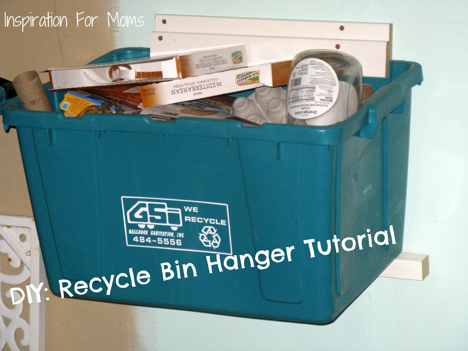Best ideas about DIY Recycling Bins . Save or Pin DIY Recycle Bin Hanger Tutorial Inspiration For Moms Now.