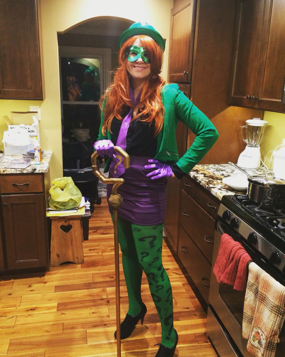 Best ideas about DIY Riddler Costume . Save or Pin The riddler costume diy Green tights with question marks Now.