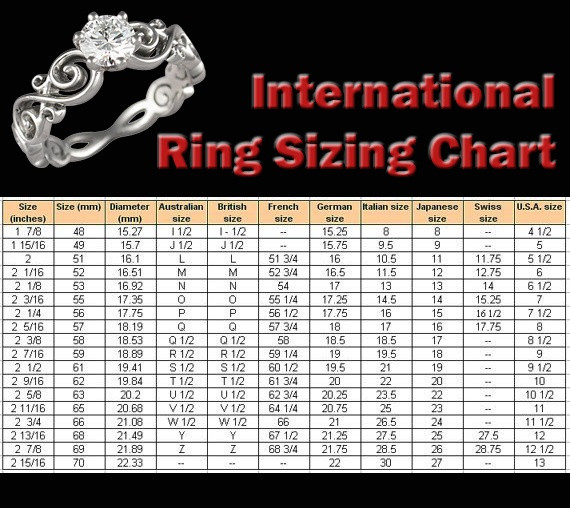 Best ideas about DIY Ring Sizer . Save or Pin International Ring Sizing Chart Handy for online Now.