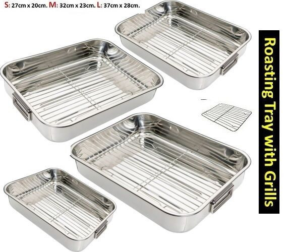Best ideas about DIY Roasting Rack . Save or Pin STAINLESS STEEL ROASTING TRAY OVEN PAN DISH BAKING HEALTHY Now.