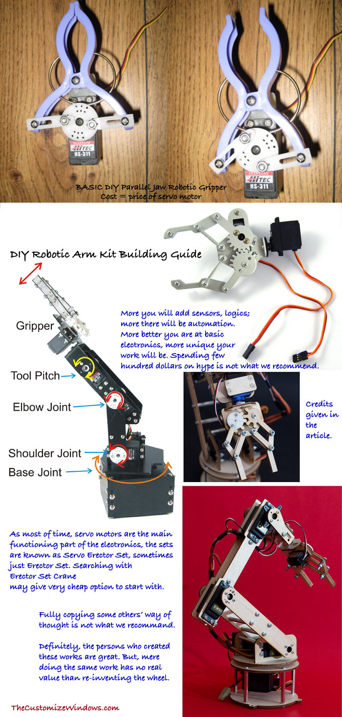 Best ideas about DIY Robot Arm . Save or Pin DIY Robotic Arm Kit Building Guide Now.