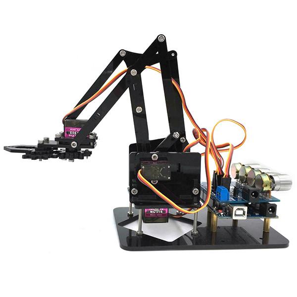 Best ideas about DIY Robot Arm . Save or Pin DIY 4DOF Robot Arm 4 Axis Rotating Mechanical Robot Arm Now.
