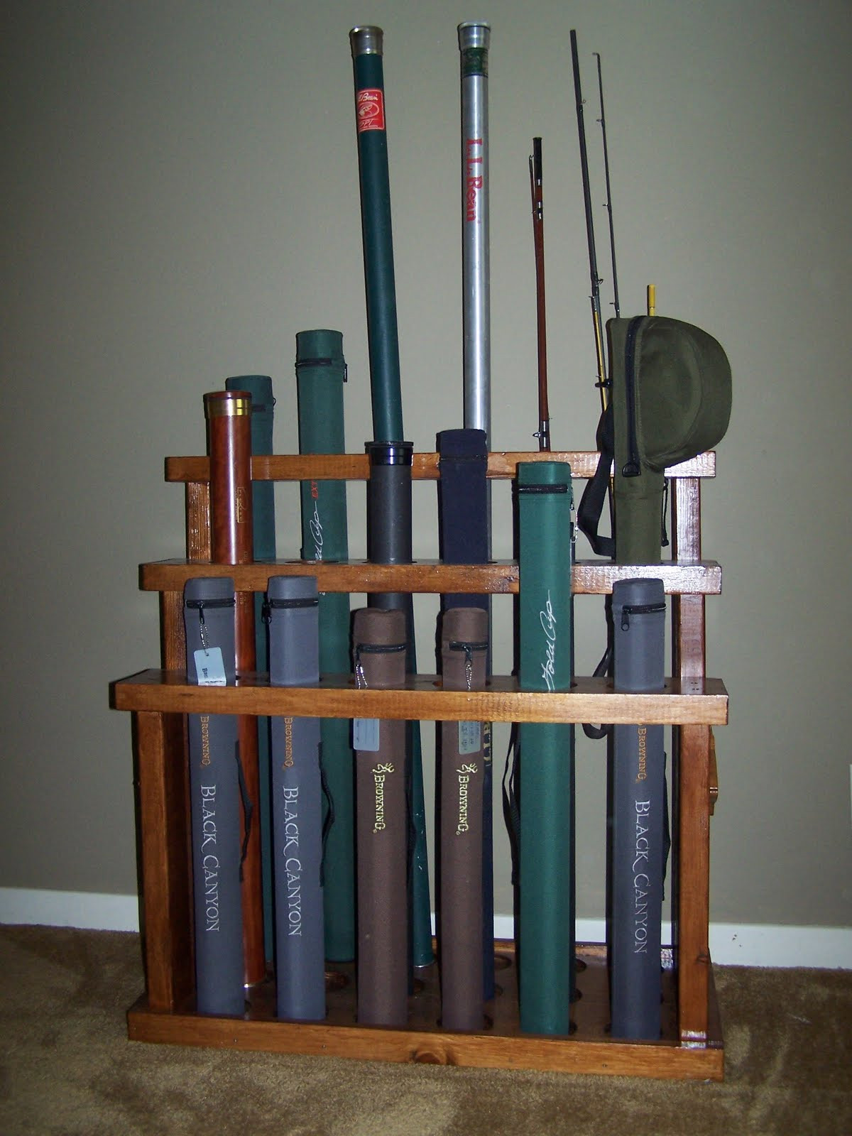 "Best ideas about DIY Rod Rack . Save or Pin The Naturalist s Angle ""D I Y "" Fly Rod Rack Now."