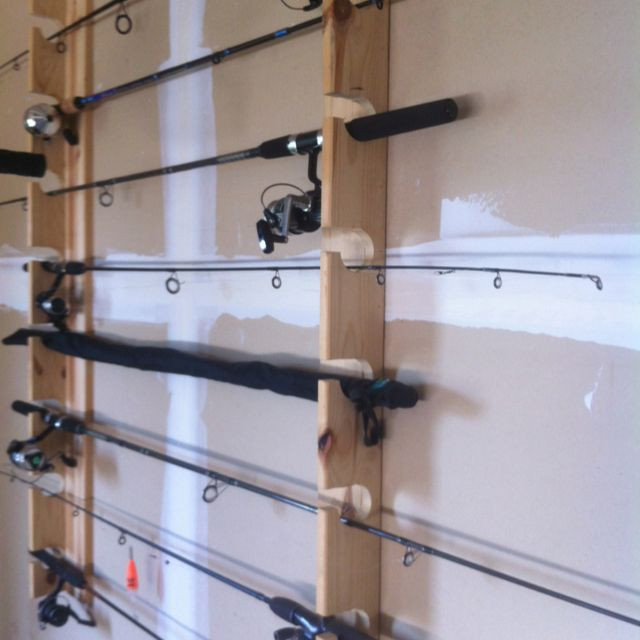 Best ideas about DIY Rod Rack . Save or Pin DIY fishing rod rack Keeps nice rods off the floor frees Now.
