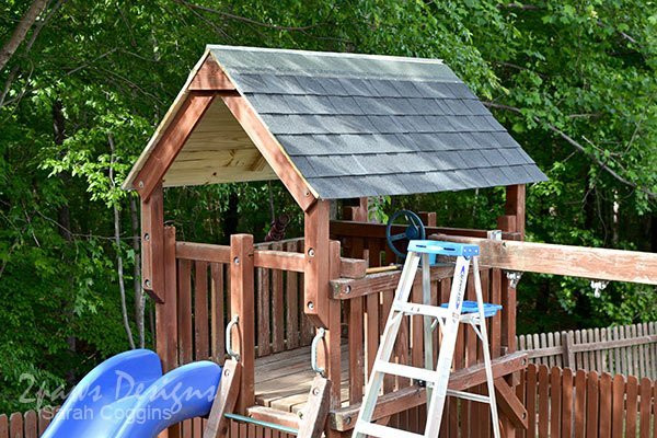 Best ideas about DIY Roof Replacement . Save or Pin Playset Makeover Simple DIY Roof Replacement Tutorial Now.