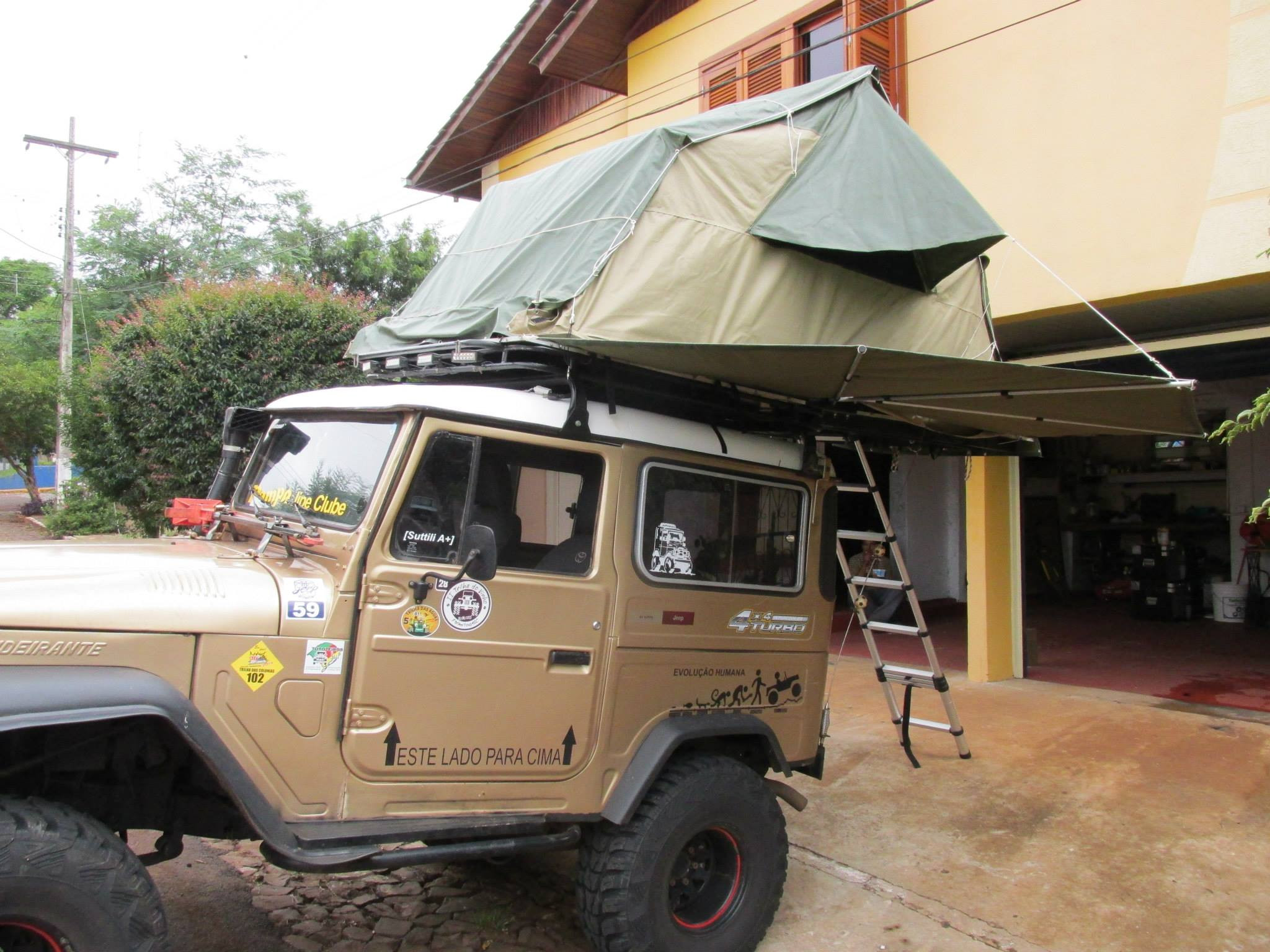 Best ideas about DIY Roof Top Tents . Save or Pin DIY Roof top tent and folding sun rain shade awn project Now.