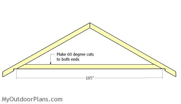 Best ideas about DIY Roof Trusses Plans . Save or Pin 16x16 Gable Shed Roof Plans MyOutdoorPlans Now.