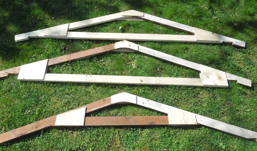 Best ideas about DIY Roof Trusses Plans . Save or Pin Building a backyard shed Now.
