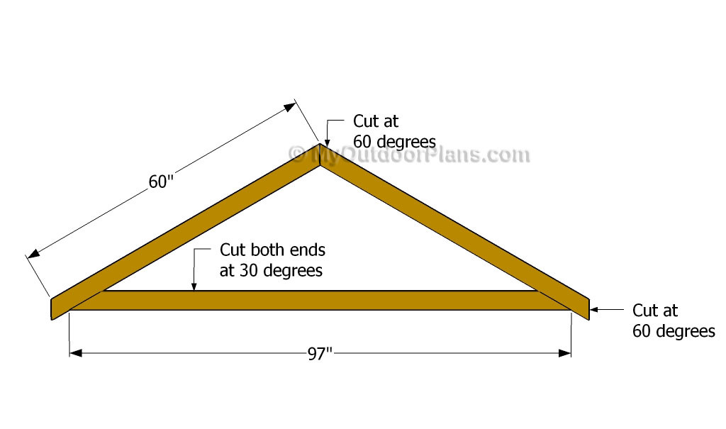 Best ideas about DIY Roof Trusses Plans . Save or Pin Diy Shed Roof Plans Now.