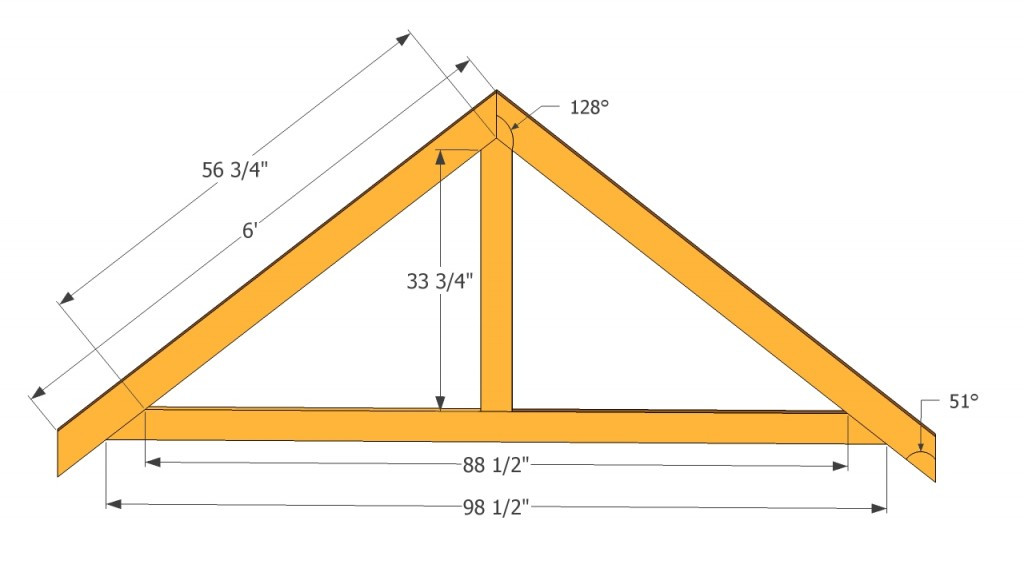 Best ideas about DIY Roof Trusses Plans . Save or Pin Garden shed plans free Now.