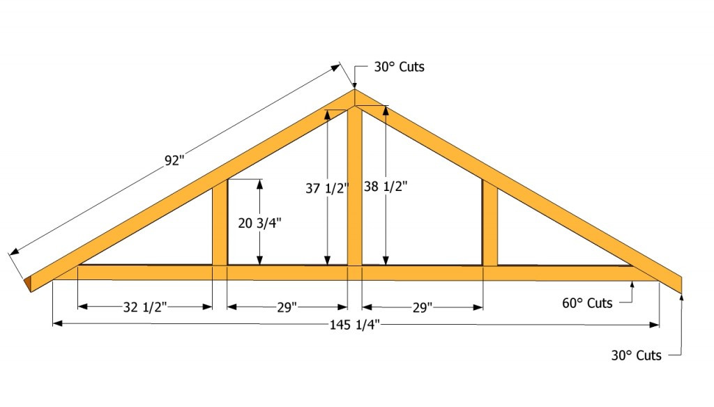 Best ideas about DIY Roof Trusses Plans . Save or Pin How to build a roof for a 12x16 shed Now.