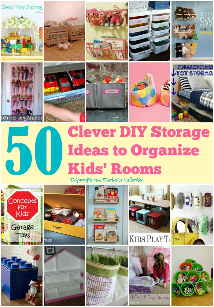 Best ideas about DIY Room Organizing Ideas . Save or Pin 50 Clever DIY Storage Ideas to Organize Kids Rooms Page Now.