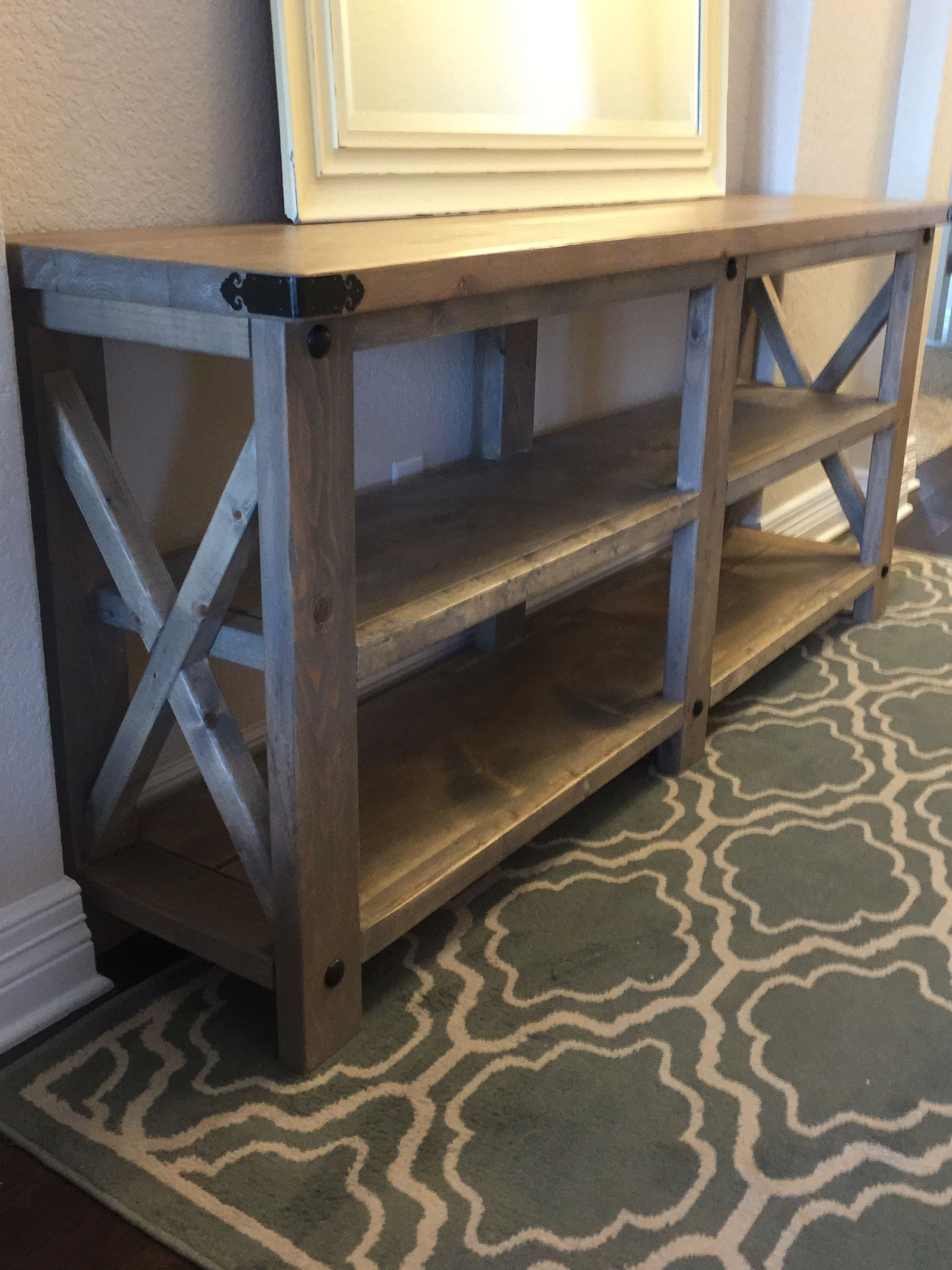 Best ideas about DIY Rustic Furniture . Save or Pin Rustic X Console Now.