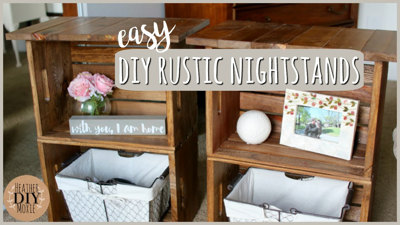 Best ideas about DIY Rustic Furniture . Save or Pin DIY Bedroom Furniture⎪Rustic Nightstands Now.